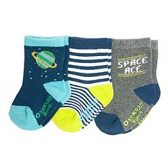 Baby/Toddler Boy OshKosh B'gosh® 3-pk. Space & Striped Crew Socks