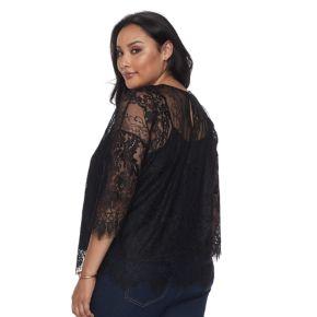 Plus Size Apt. 9® Floral Lace Top