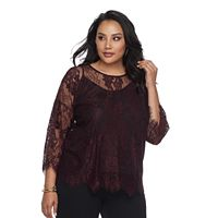 Plus Size Apt. 9® Floral Lace Top