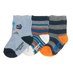 Baby/Toddler Boy OshKosh B'gosh® 3-pk. Dinosaurs & Striped Crew Socks