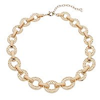 Napier Scalloped Oval Link Chunky Necklace