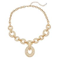 Napier Scalloped Oval Link Y Necklace