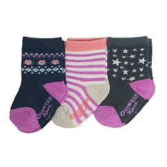 Baby/Toddler Girl OshKosh B'gosh® 3-pk. Stars & Stripes Crew Socks