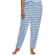Juniors' Plus Size SO® Pajamas: Striped Velour Jogger Pants