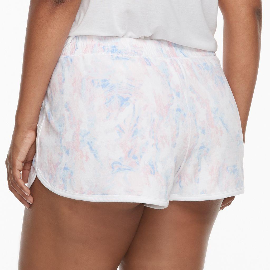 Juniors' Plus Size SO® Pajamas: Velour Shorts
