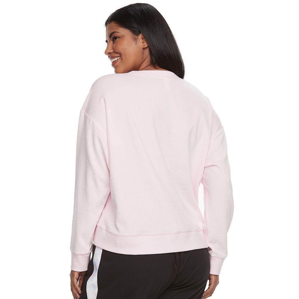 Juniors' Plus Size SO® Pajamas: Velour Sweatshirt