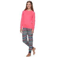 Juniors' SO® Pajamas: Raglan Top & Jogger Pants PJ Set