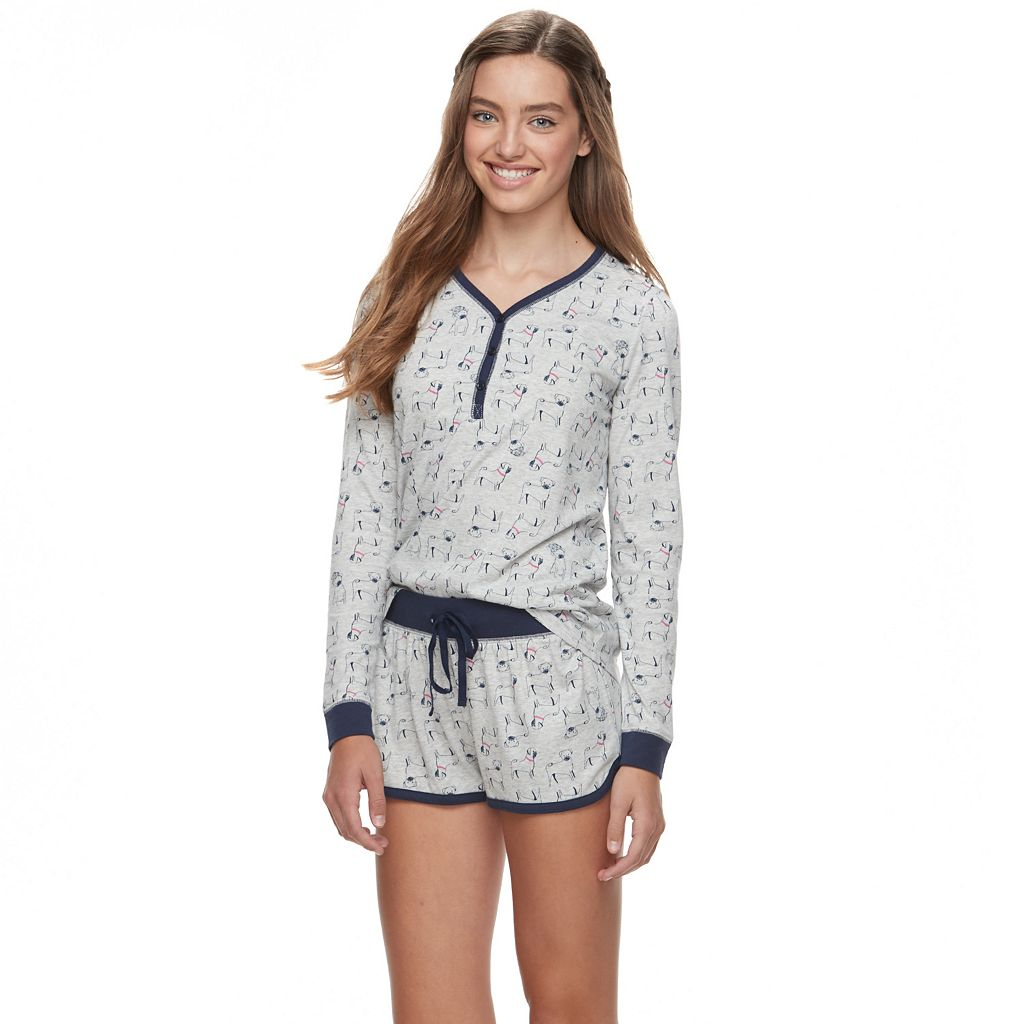 Juniors' SO® Jersey Short Sleep Set