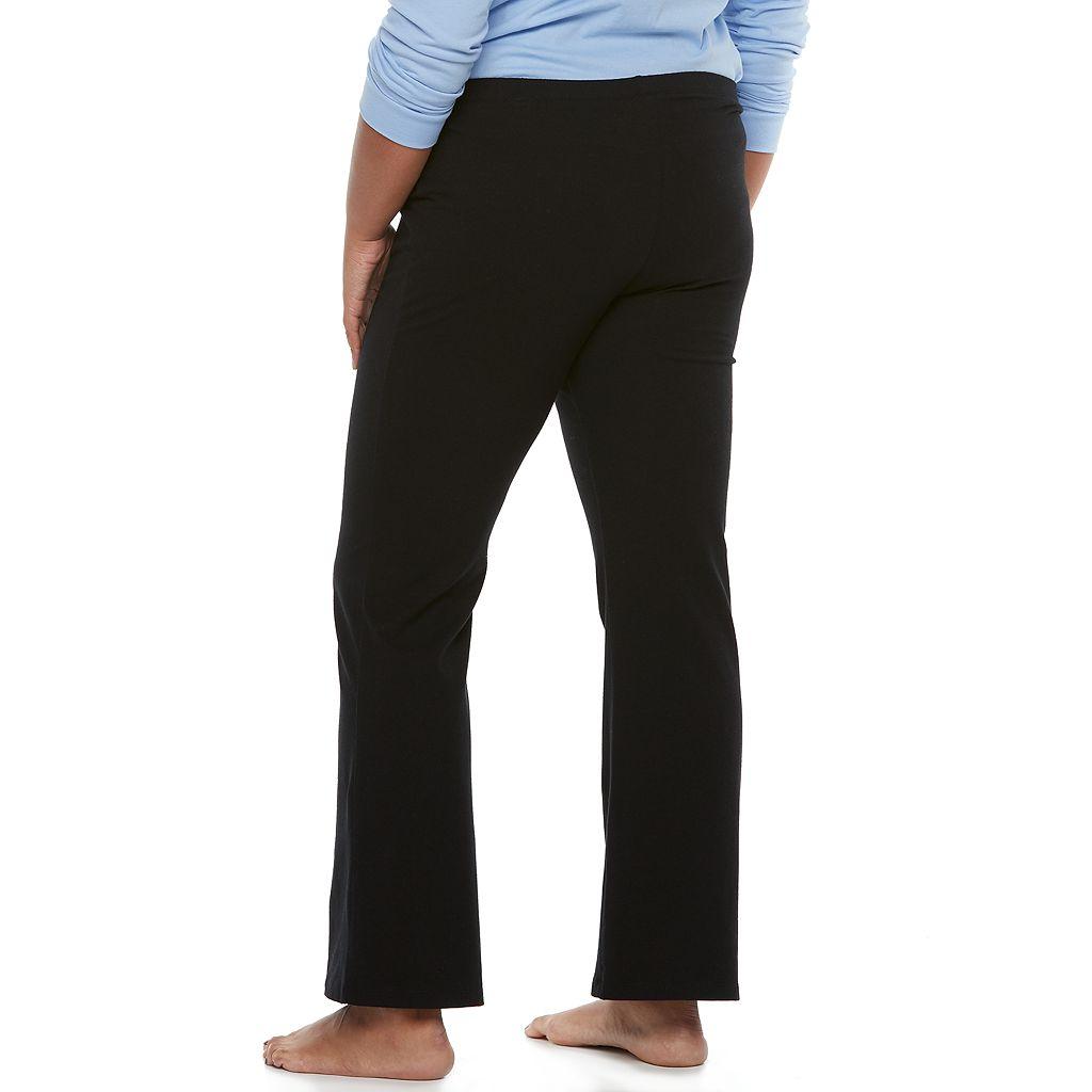 Juniors' Plus Size SO® Pajamas: Black Bootcut Yoga Pants