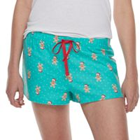 Juniors' SO® Pajamas: Printed Flannel Shorts