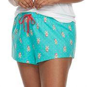 Juniors' Plus Size SO® Pajamas: Flannel Shorts