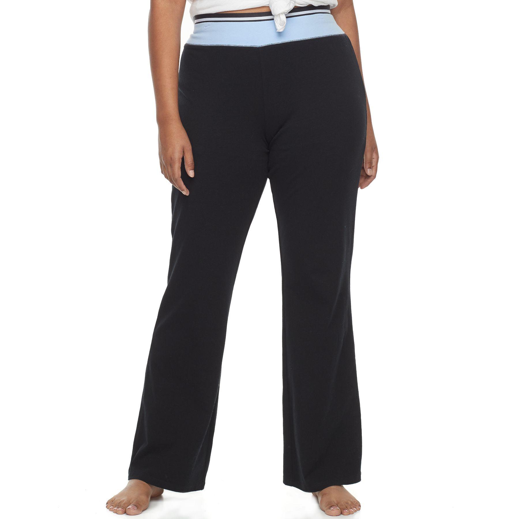 Purple bootcut yoga pants