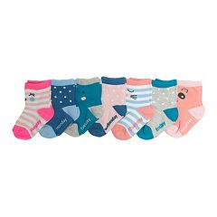 Baby/Toddler Girl OshKosh B'gosh® 7-pk.  Animal Faces Crew Socks