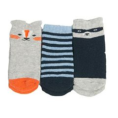Baby/Toddler Boy OshKosh B'gosh® 3-pk. Fox & Raccoon Crew Socks