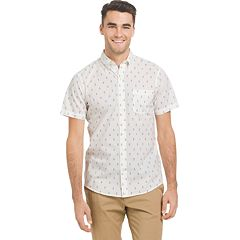 Big & Tall IZOD CoolFX Classic-Fit Anchor Moisture-Wicking Button-Down Shirt