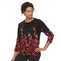 Women's Cathy Daniels Floral Print Sweater