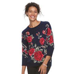 Women's Cathy Daniels Floral Print Sweater
