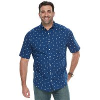 Big & Tall IZOD CoolFX Classic-Fit Boat Moisture-Wicking Button-Down Shirt