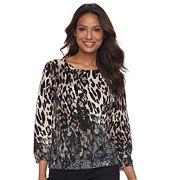 Women's Cathy Daniels Leopard Print Sweater