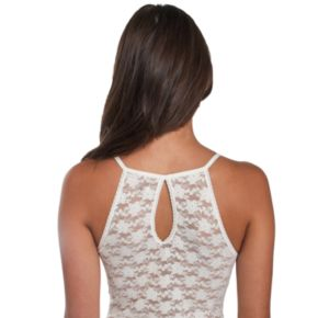 Juniors' Candie's® High Neck Lace Cami