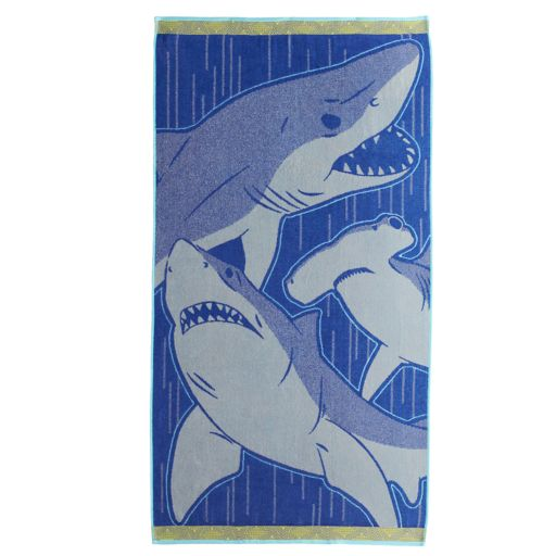 Celebrate Summer Together Sharks Beach Towel
