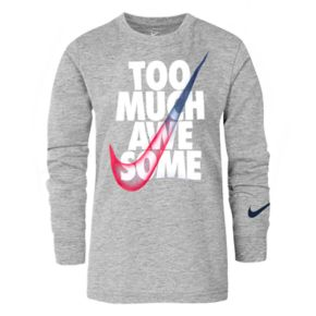 """Boys 4-7 Nike """"Too Much Awesome"""" Graphic Tee"""