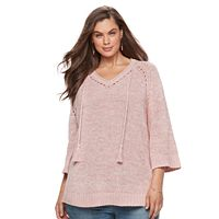 Plus Size SONOMA Goods for Life™ Pointelle Sweater