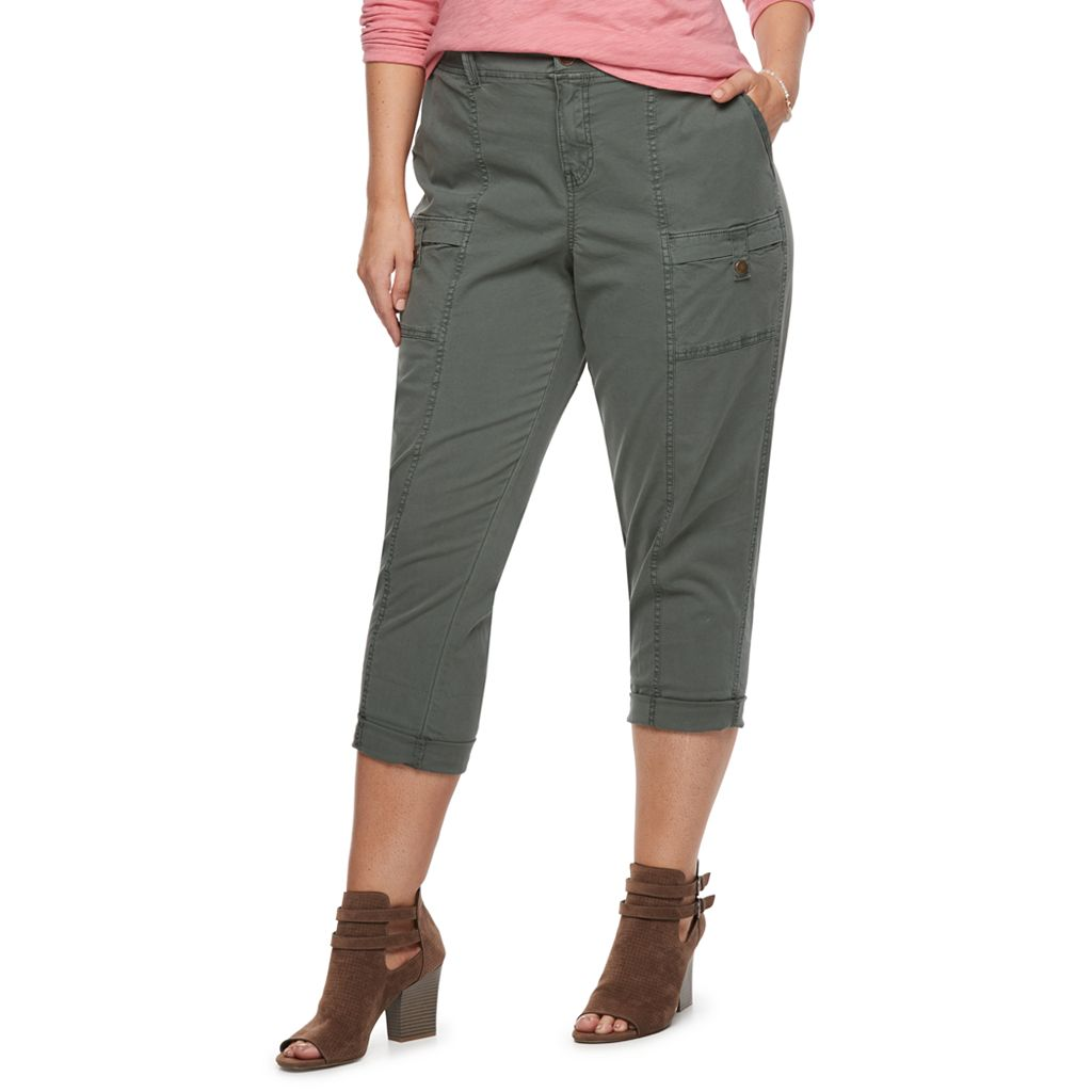Plus Size SONOMA Goods for Life™ Canvas Utility Capris