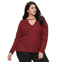 Plus Size Rock & Republic® Thermal Cut Out Top