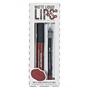 Academy of Colour Matte Liquid Lipstick & Lip Liner - Burgundy