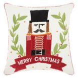 "Mina Victory Home for the Holidays ""Merry Christmas"" Nutcracker Throw Pillow"
