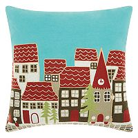 Mina Victory Home for the Holidays Village Throw Pillow