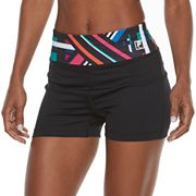 Women's FILA SPORT® Tru-Dry  High-Waist Fitted Performance Shorts