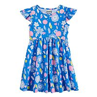 Girls 4-10 Jumping Beans® Flutter Sleeve Printed Dress