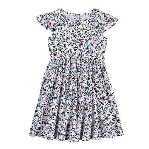 Girls 4-10 Jumping Beans® Flutter Sleeve Printed Dress