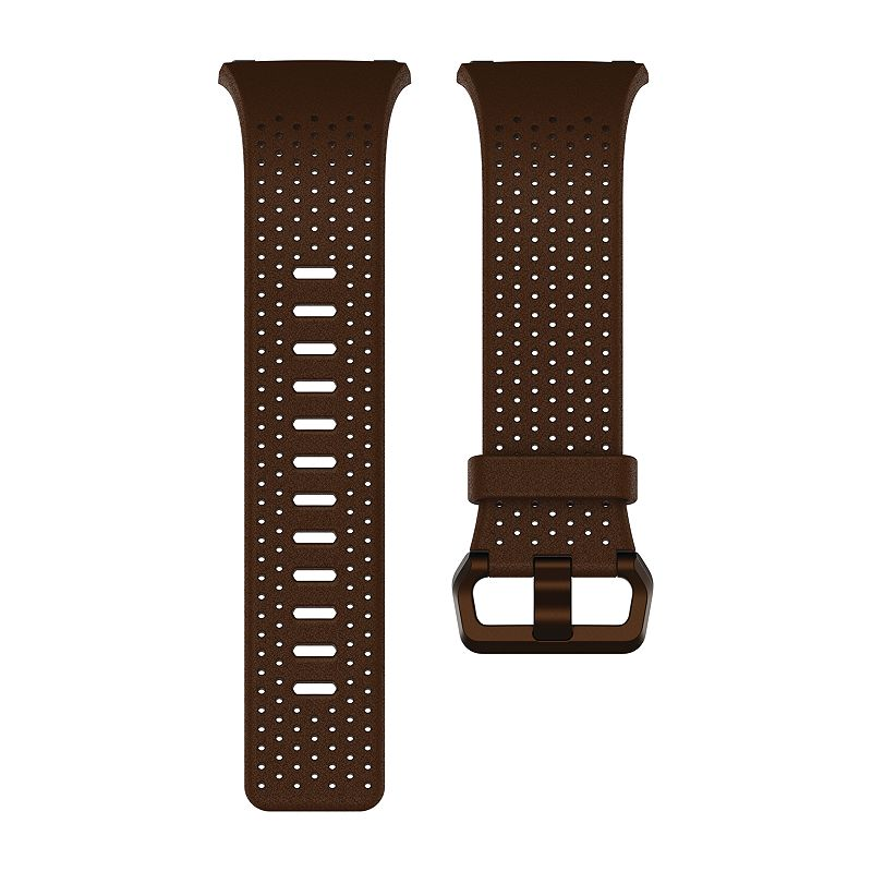 Fitbit Ionic Leather Band, Size: Small, Brown Sport your Fitbit Ionic fitness watch the cool and casual way with this stylish Fitbit Ionic leather band. Hand-crafted with high-quality Horween leather Perforated for breathability Fitbit Blaze wristband sizing tool Small band: fits wrists from 5.5'' to 6.7'' in circumference Large band: fits wrists from 6.7'' to 8.1  circumference Band width: 1.15-in. Leather, aluminum Bands are compatible with Fitbit Ionic fitness watch Fitbit Ionic fitness watch is not included Manufacturer's 1-year limited warrantyFor warranty information please click here For information about the modified return policy, please click here Model no. FB164LB Color: Brown. Gender: unisex. Age Group: adult.