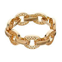 Napier Scalloped Oval Link Bracelet