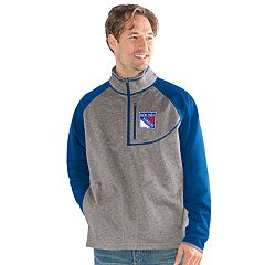 Men's New York Rangers Mountain Trail Pullover Fleece Jacket