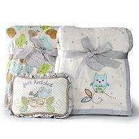 Nurture Owl & Nesting Birdies Blanket Gift Set