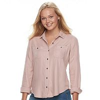 Juniors' Mudd Solid Utility Shirt