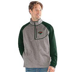 Men's Minnesota Wild Mountain Trail Pullover Fleece Jacket