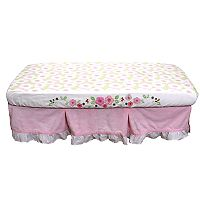 Nurture Basix 2-pc. Pink Garden Dust Ruffle & Crib Sheet Starter Set
