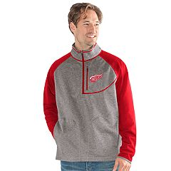 Men's Detroit Red Wings Mountain Trail Pullover Fleece Jacket