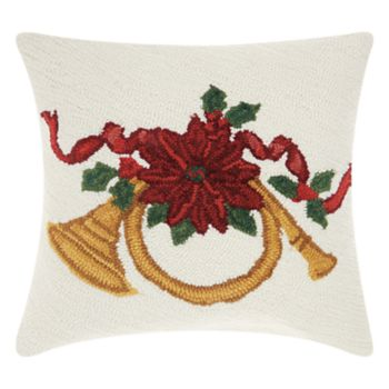 Mina Victory Home for the Holidays French Horn Throw Pillow