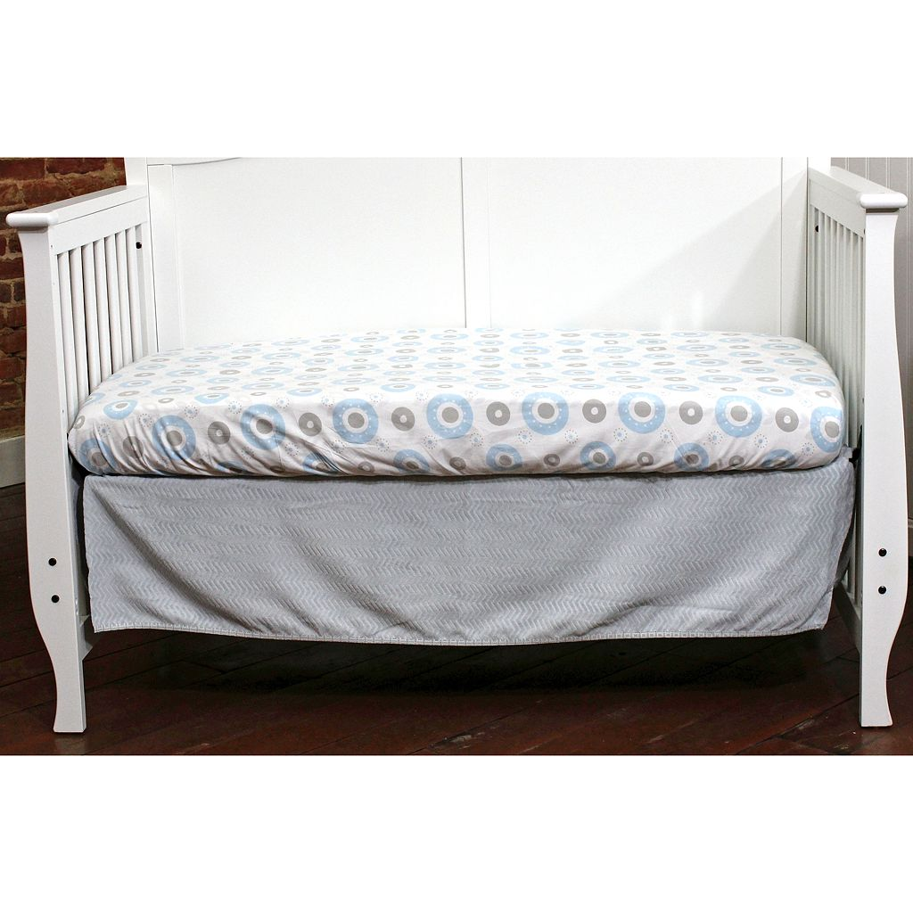 Nurture Basix 2-pc. Gray Chevron Dust Ruffle & Crib Sheet Starter Set