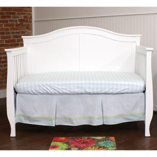 Nurture Basix 2-pc. Baby Blue Corduroy Dust Ruffle & Crib Sheet Starter Set