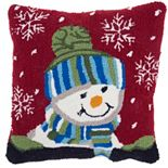 Mina Victory Home for the Holidays Snowboy Throw Pillow