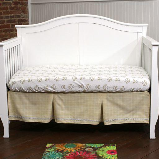 Nurture Basix 2-pc. Tan Twill Dust Ruffle & Crib Sheet Starter Set