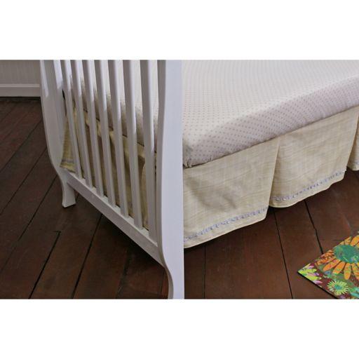 Nurture Basix 2-pc. Tan Twill Dust Ruffle & Dotted Crib Sheet Starter Set