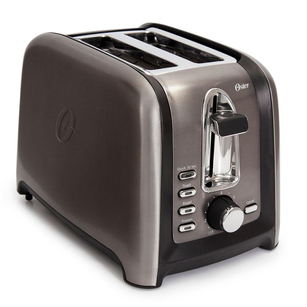 2 Slice Black Stainless Steel Toaster